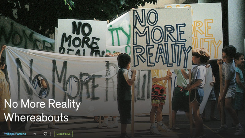 """No more reality whereabouts"" by Philippe Parreno @ Rotterdam Film Festival"